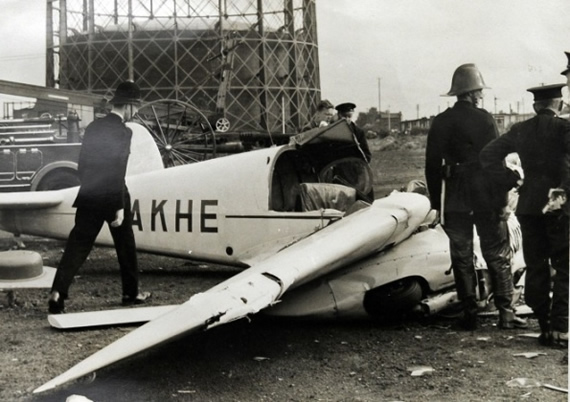 Freddie's plane after the crash